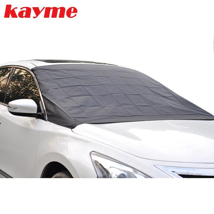 Kayme car window sunshade half cover auto magnetic windshield protector cover anti frost snow ice windscreen car covers for sun