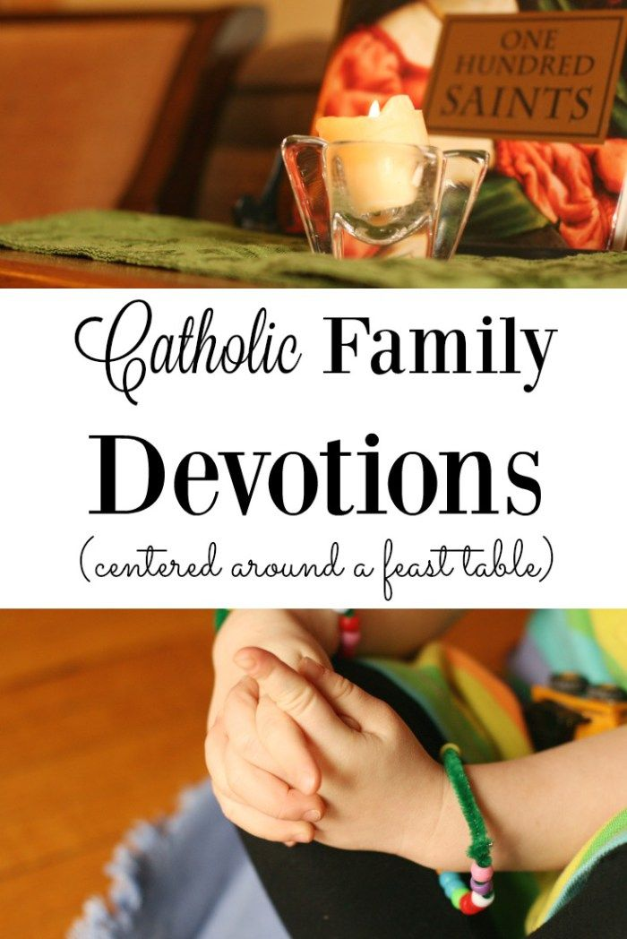 A great example and encouragement for Catholic family daily devotion and prayer time!  Live the liturgical year!
