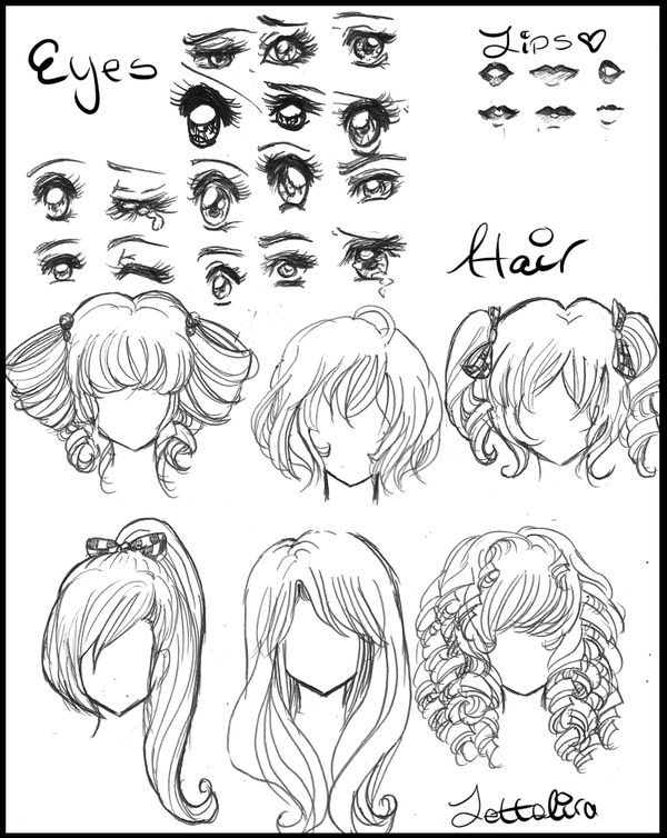 Manga eyes & hair