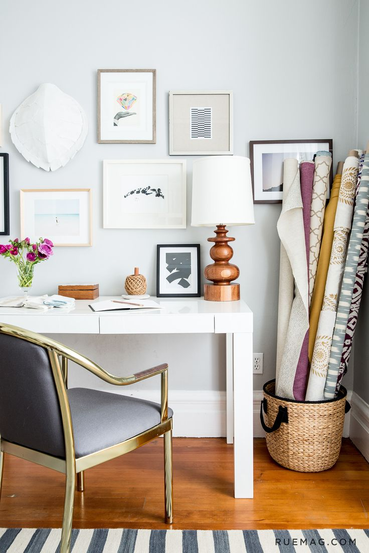 an interior designer's home office