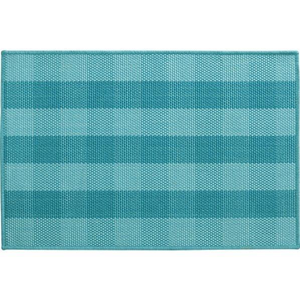Teal Area Rug Turquoise Rug Soft Rug Bathroom By: Jarvis Teal Blue Jute-Blend Rug