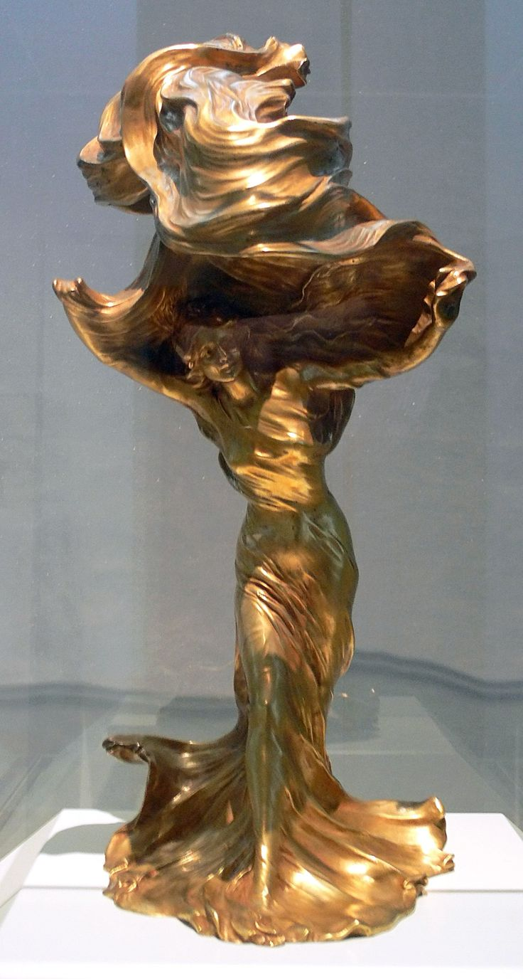 This american art nouveau table lamp is no longer available - Art Nouveau Table Lamp By Fran Ois Raoul Larche In Gilt Bronze With The Dancer Lo E Fuller As Model Paris 1900