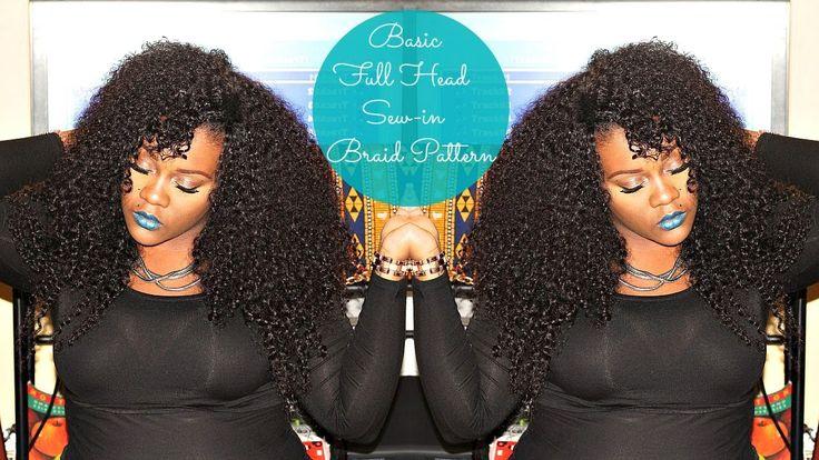 Basic Full Head Sew-In Braid Pattern