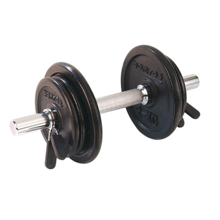 €12,95 - Material de musculación - Kit de mancuernas 10 kg X 2 - DOMYOS