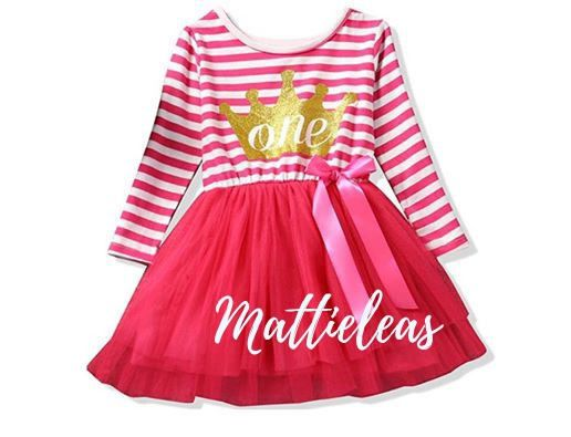 Baby girl first birthday outfit First Birthday Dress  Girls