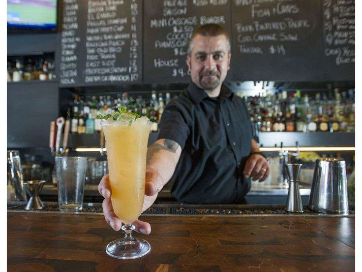 Vancouver, BC: AUGUST 04, 2016 -- Non-alcoholic drinks courtesy of Justin Taylor, general manager of The Cascade Room in Vancouver, BC Thursday, August 4, 2016. Pictured is the Georgia Asphalt.