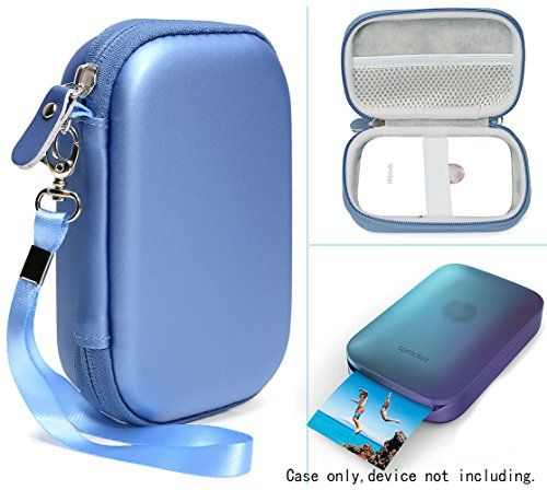 Blue Protective Case for HP Sprocket Portable Photo Printer and Polaroid ZIP Mobile Printer Mesh Pocket for Photo Paper and Cable Compact size Fashion Design