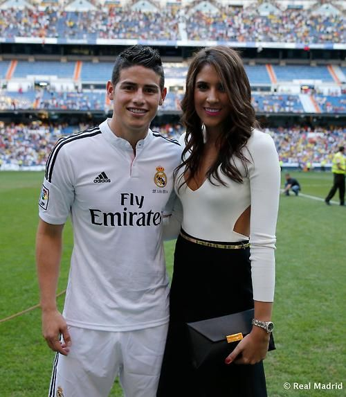 James Rodriguez real Madrid  and wife Real Madrid
