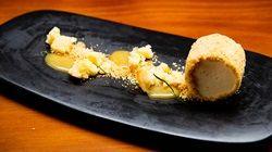 Maple Crumbed Lemon Myrtle Parfait, Goat's Cheese Sponge and Maple Caramel