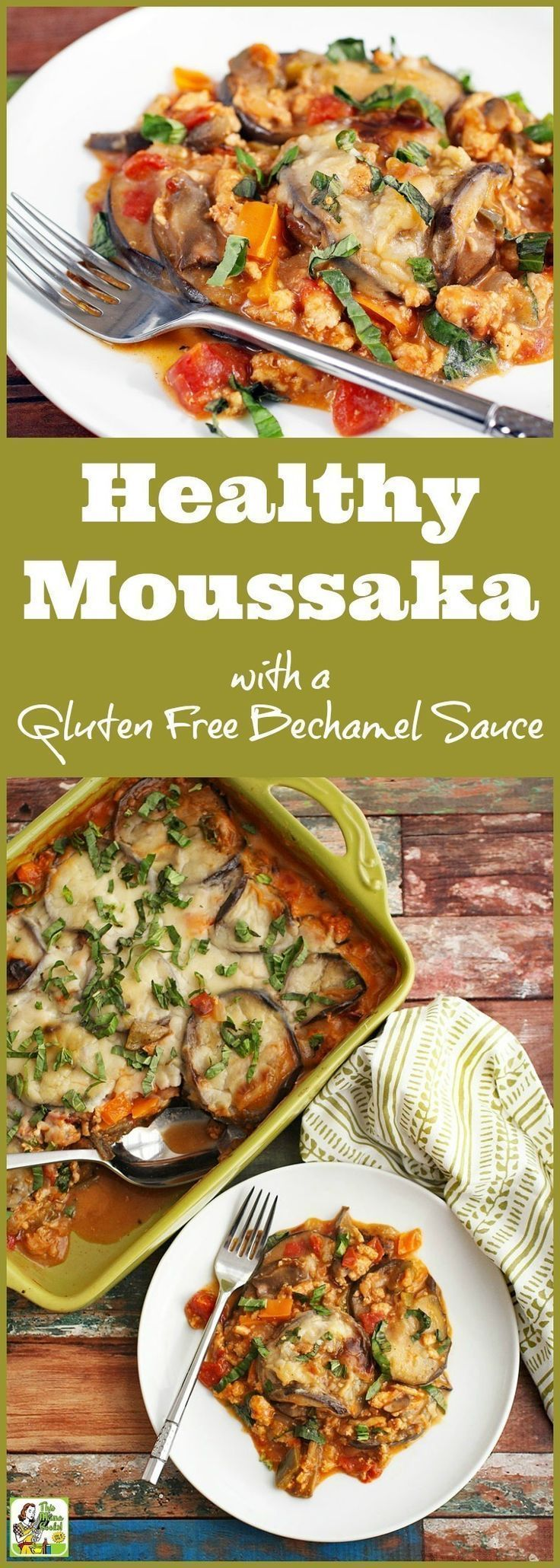 Learn how to make a healthy moussaka recipe with a dairy free and gluten free bechamel sauce. Click to get this easy Greek moussaka recipe made with ground turkey.
