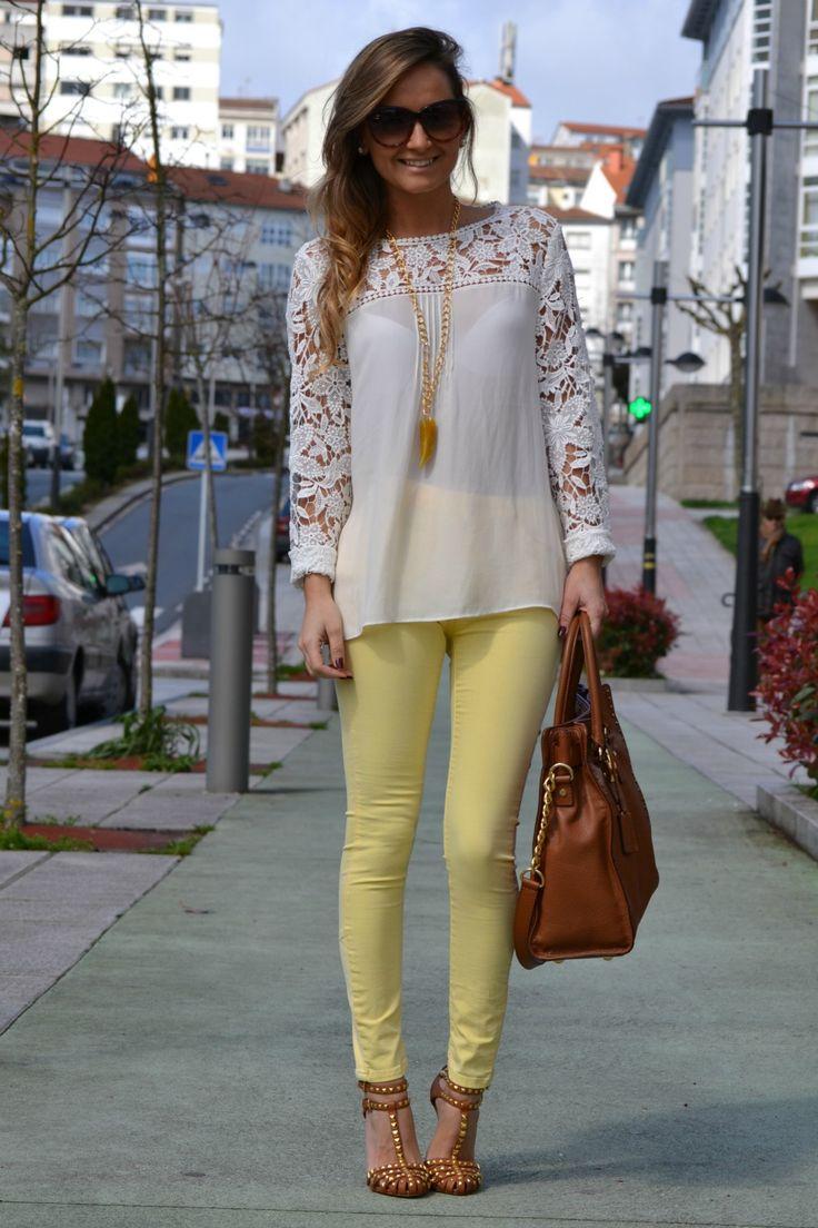 jeans amarillos