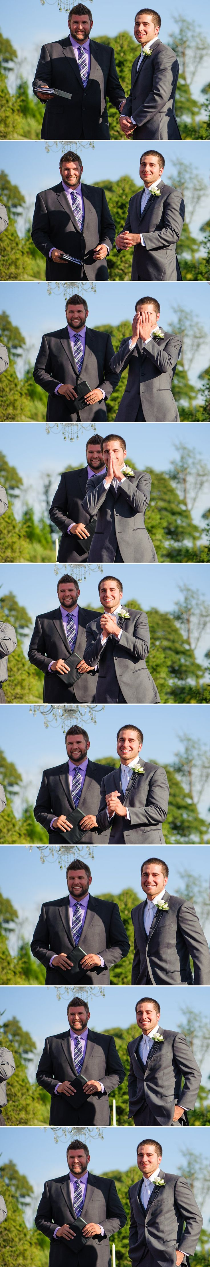 Kimberly Brooke Photography | BEST GROOM REACTION EVER to bride coming down aisle!!!