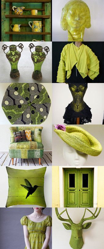 Chartreuse on the Loose! by Debra L. Boudreau on Etsy--Pinned+with+TreasuryPin.com