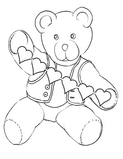 Valentine teddy coloring pages teddy bear coloring printables
