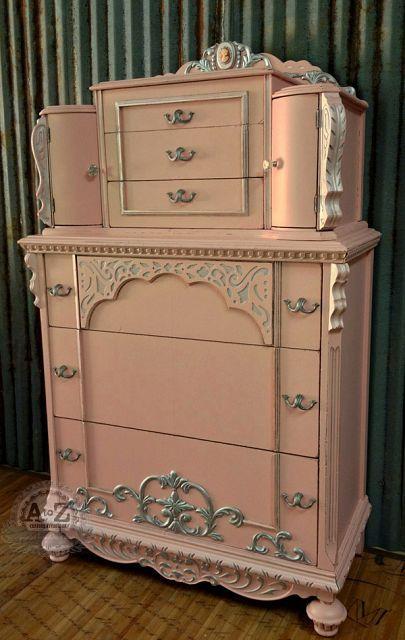 Thrift 2 chiffon pink dream dresser makeover! ♡♥
