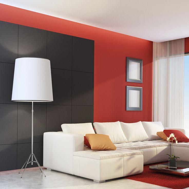 livingroom lighting. Black, White And Red All Over! #Love The #colors #decor Livingroom Lighting S