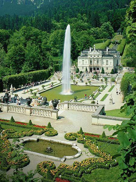 Amazing place! Ich war im verschneiten Winter dort * Schloss Linderhof in Bayern, Deutschland,