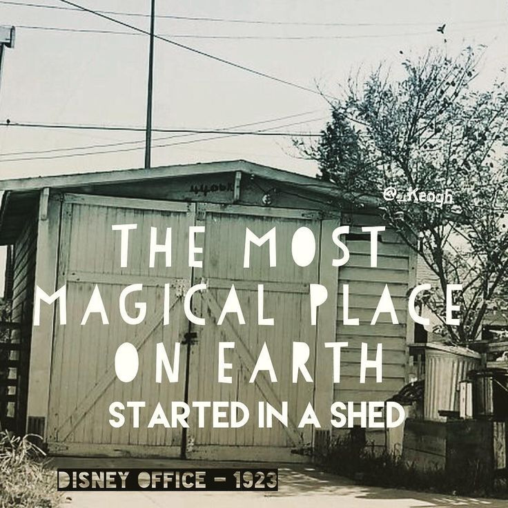 Even 'The most magical place on earth' had to start somewhere. That somewhere was Disney's uncles shed. Getting started is hard, but don't let location hold you back.  #instagram #instagood #photooftheday #beautiful #happy #picoftheday #instadaily #inspire #positivequotes #NewDay #newbridge #planning #goals #ireland #irish #kildare #think #life #Disney #alice #1923 #magicalplaceonearth #themostmagicalplaceonearth #thehappiestplaceonearth #disneyworld #disneyland #innovate #motivation