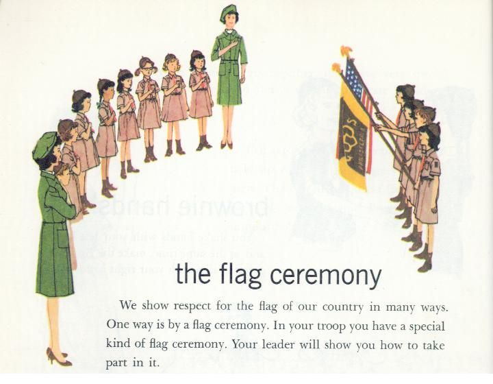 Girl Scouts USA Salute the Flag - A History Through Handbooks