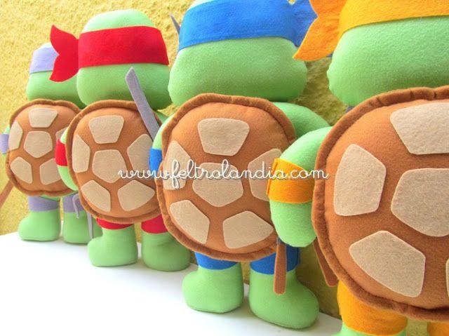 Feltrolândia : Decoração Festa Infantil Tartarugas Ninjas