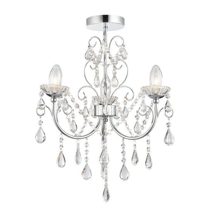 Diese dimmbare Leuchte ist verchromt und aus klarem Kristallglas sowie Stahl gefertigt. Das Befestigungszubehör ist zudem im Lieferumfang enthalten.