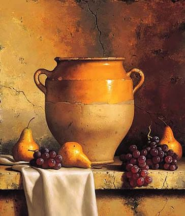 Confit Jar with Pears & Grapes by Loran Speck