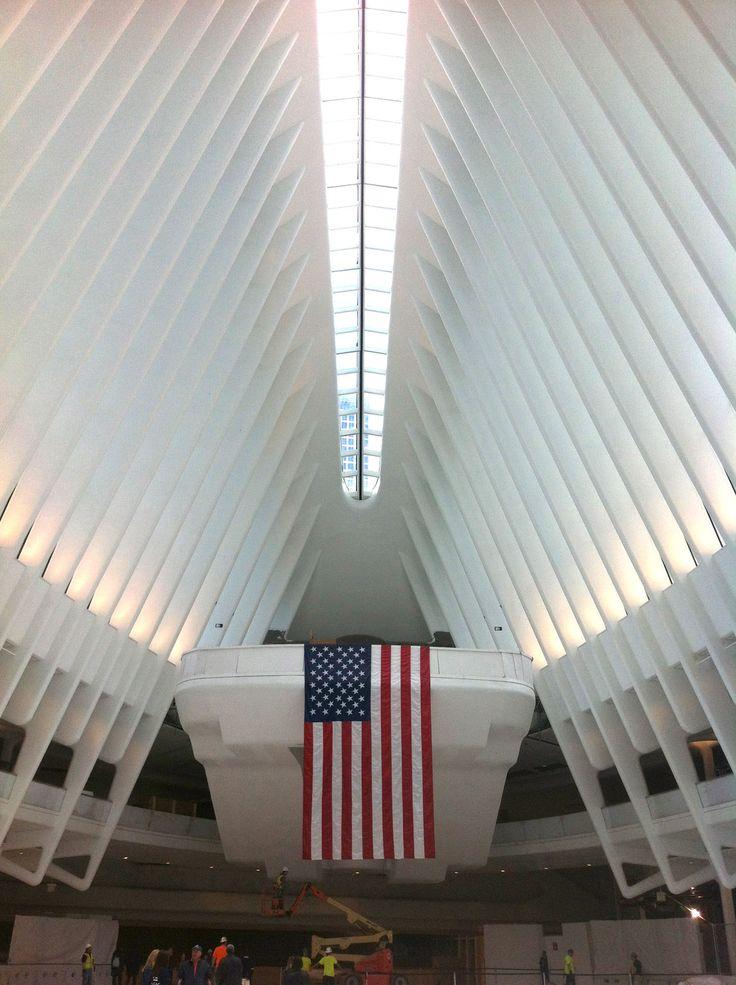 Oculus Hub at Path Station designed by Spanish architect Santiago Calatrava