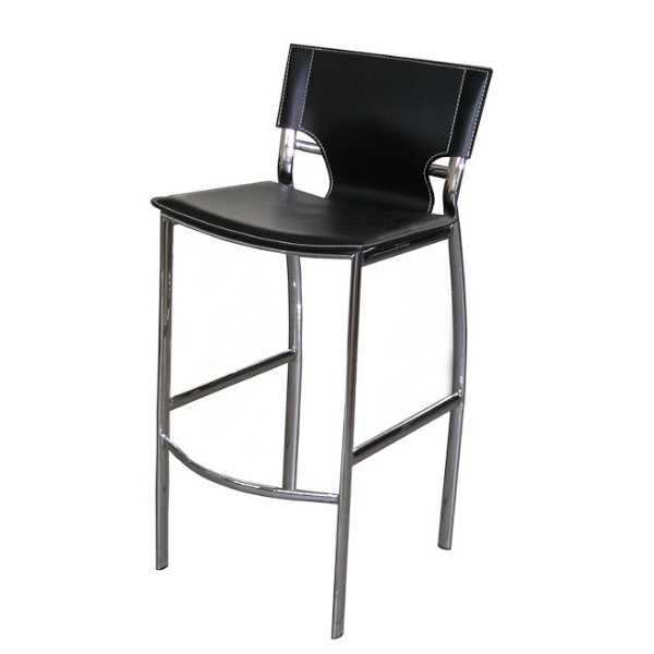 New Black Leather Bar Stools Counter Height