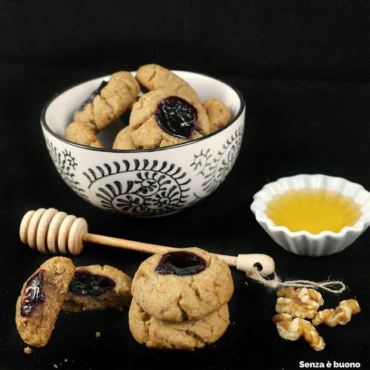Biscotti saraceni con noci e miele #senzaglutine #senzalatticini #glutenfree #dairyfree