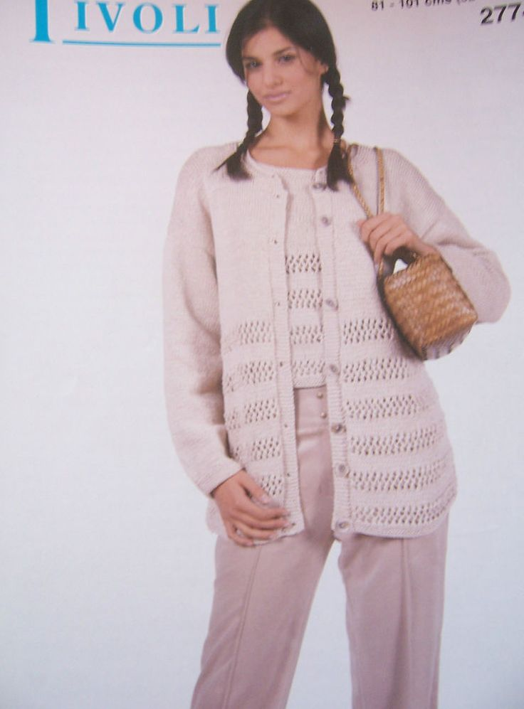 "Knitting Pattern Tivoli 2774 - LADIES TOP AND JACKET - 34-40"" in Crafts, Knitting, Patterns 