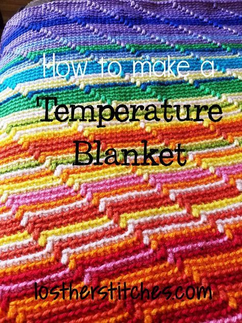 Temperature Blanket ~ lost her stitches It charts the temperature of the days in a specific year. Cool idea!