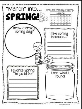 Great to use on the first day of March as we 'march into spring' or on the actual first day of spring! Easy for kids to do as a literacy activity or in a center.