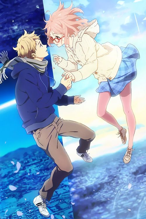 Un anime divertido, con ciencia ficción y como no, historia de amor. KYOUKAI NO KANATA