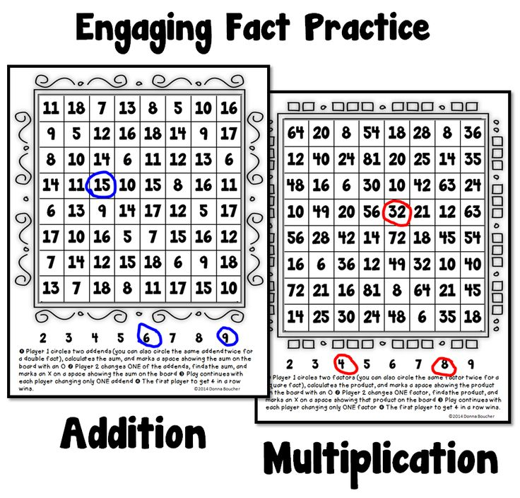 Math Coach's Corner: Fact Practice Your Students Will Love! Download free games for practicing addition and multiplication facts.