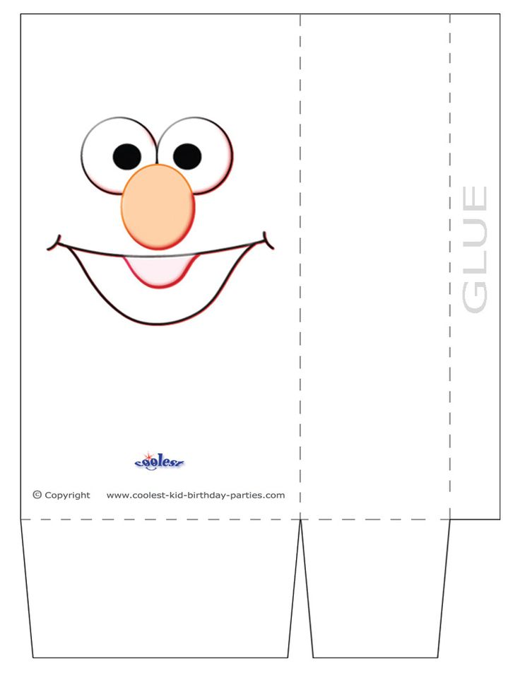 To Create The Large Favor Bag Youll Need Print Out TWO Copies On Colored Paper Or White And Let Your Kids Color It In Add