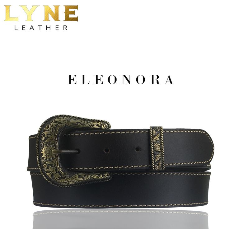 'ELEONORA' BROWN STITCHED BELT. Best Australia High-Quality Genuine Leather Belt with a strong and reliable floral buckle. Discover more of it's fascinating features. #fashion #australia #leather #belt