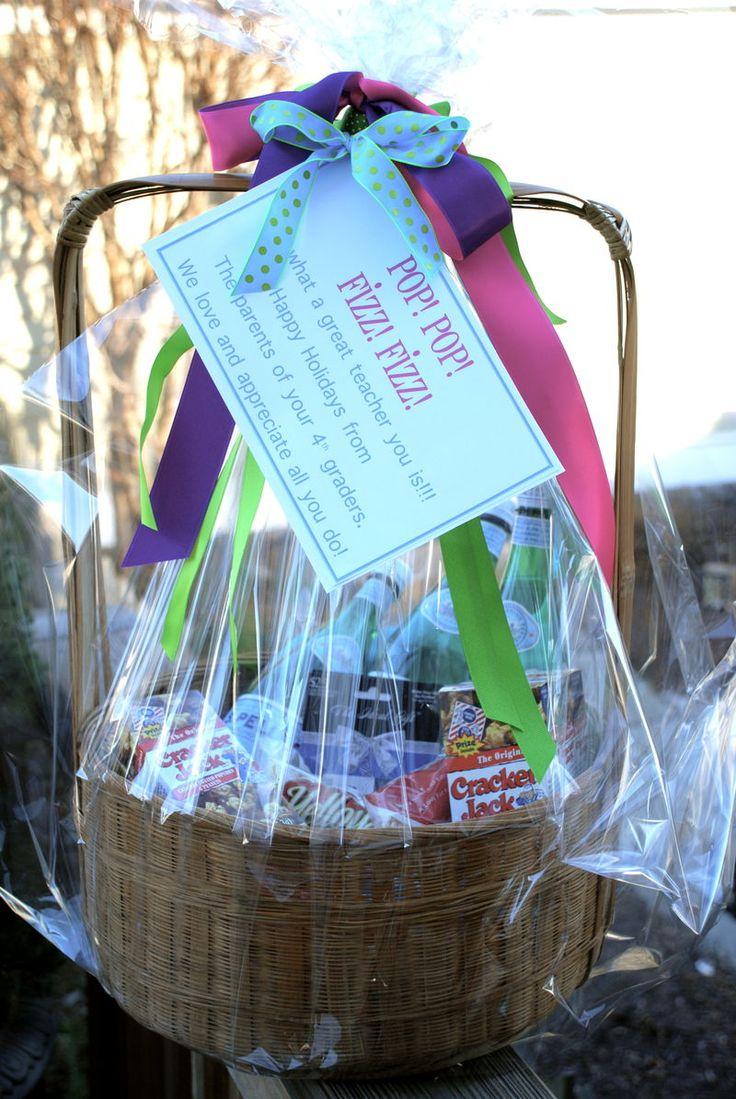 Pop Pop Fizz Fizz...: Gift Baskets, Teacher Appreciation, Gifts Ideas, Teacher Gifts Baskets, Schools Gifts, Gifts Baskets Ideas, Gifts Teacher, Gifts Parties Ideas, Baskets Design