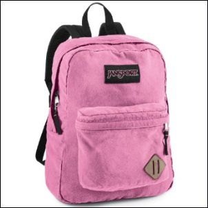 Another color that is a favorite among girls is a Pink Jansport Backpack.  Jansport makes an assortment of pink backpacks that you can get in a solid pink or something with a pattern.  These backpacks come in different sizes depending on the age of your child and how much stuff they will need to carry back and forth to school.