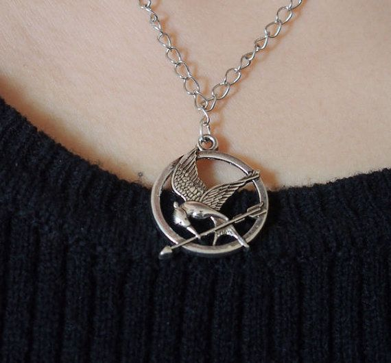 Necklace hunger games in silver plated on by INFINITYBRACELETLOVE, $2.99