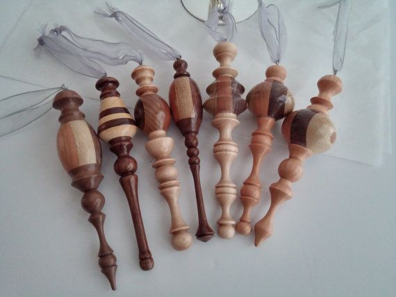 Handmade Wood Turned Christmas Ornaments by jasonprigmore on Etsy