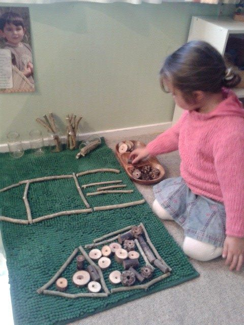 "Natural resource creation at Tu Tamariki - Play Based Learning ("",) using all those sticks we collect"