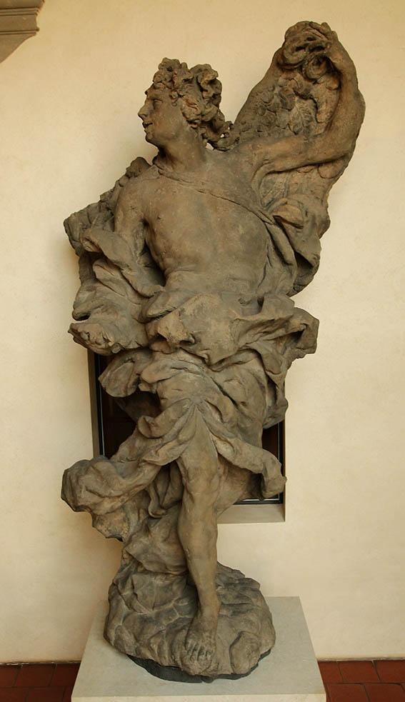Mathias Bernard Braun - Angel2,1717-1718,sandstone,245cm,Prague-National gallery