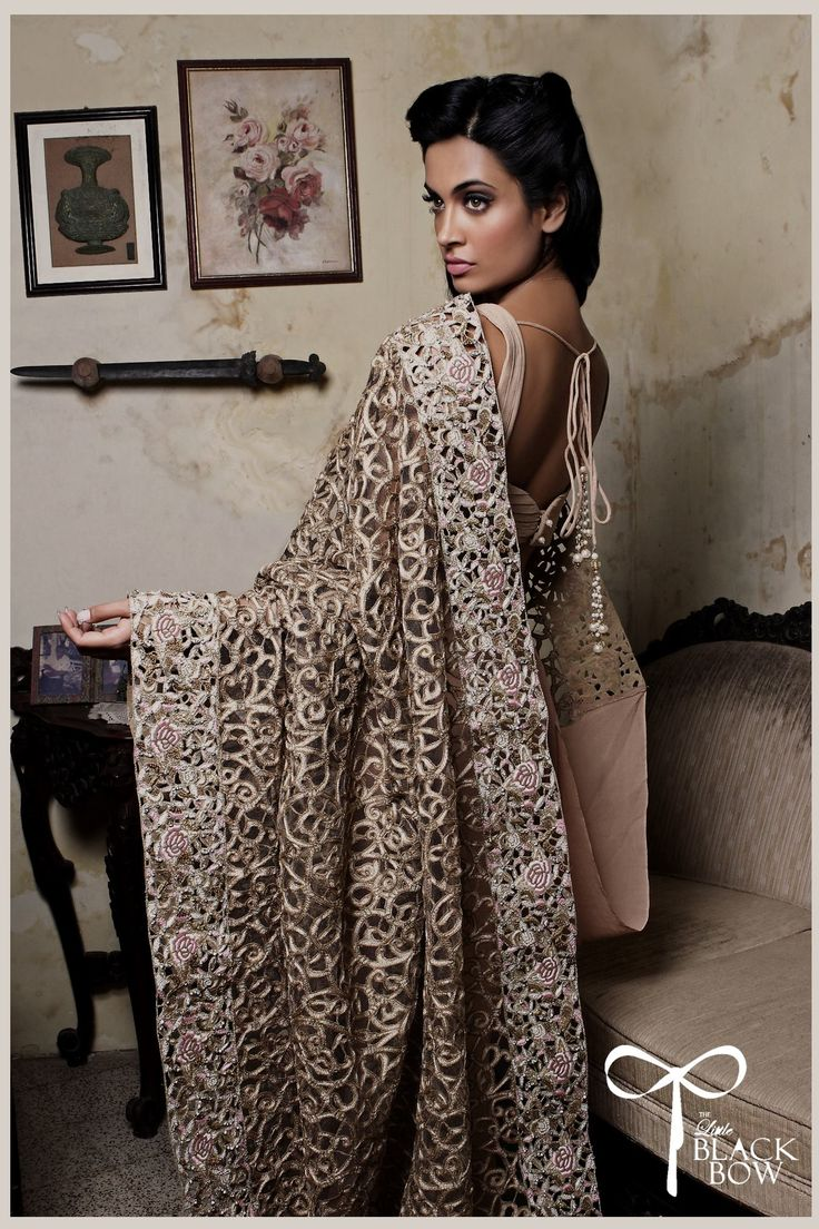 Can't live without @thelittleblackbow. Beautiful lehengas and sarees with detailed embroidery cutwork worse. We promise you will look as good as the model does. #indianweddingdress