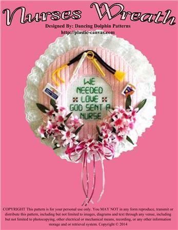 Everything Plastic Canvas - Nurses Wreath