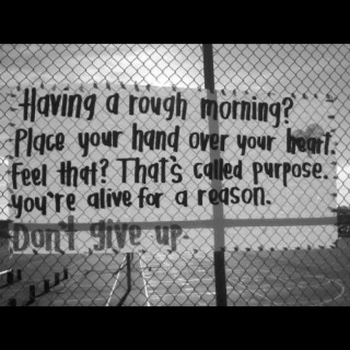 You're alive for a reason! Discover and cherish it! ♥
