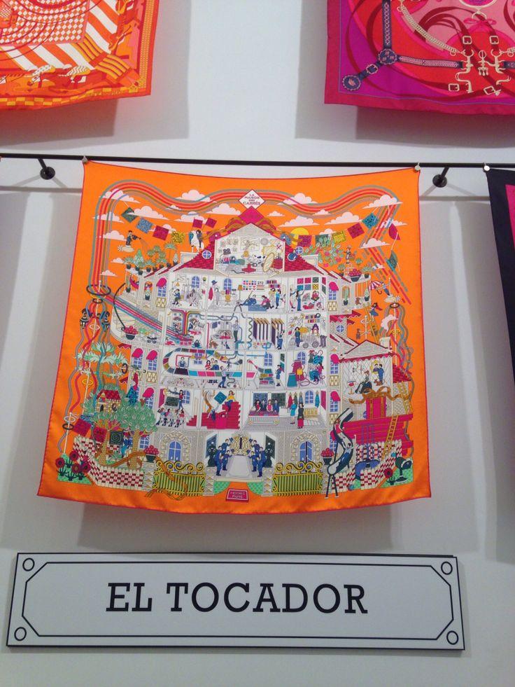 Pañuelo Hermès edición La Maison des Carrés Barcelona