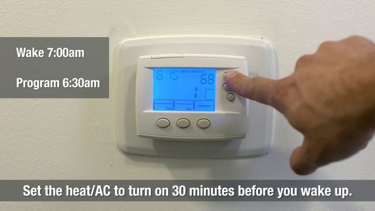 Set your programmable thermostat to save money on your energy bill. This video shows you how to use a thermostat to heat and cool your home efficiently. Want...