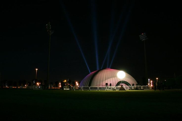 A spotlight on you  #Dome #Trident  #Inflatable #Temporary #Structure #Events http://www.dryspace.ae    engage@dryspace.ae