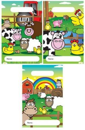 12 Farm Animal Design Childrens Party Bags / Kids Fillers Gifts Favours Toys Sweets - FILL UP THESE FANTASTIC PARTY BAGS WITH TOYS, GAMES AND SWEETS FOR YOUR KIDS BIRTHDAY PARTY!  IDEAL FOR ANY CHILDRENS BIRTHDAY PARTY, KIDS WILL LOVE THEM!   NEED TO FILL YOUR PARTY BAGS?  VISIT OUR SHOP FOR HUNDREDS OF FANTASTIC PARTY BAG FILLERS   FROM POP-UP ALIENS & TOY CARS TO GLITTER KEY RINGS & DINOSAUR STICKERS! 12 party bags Ideal for filling with party bag fillers & toys 15 x 22 (cm