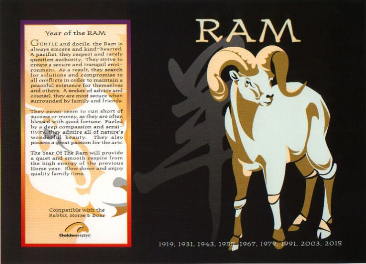The Chinese Astrology: Chinese Horoscope Signs: The Ram (or Goat)